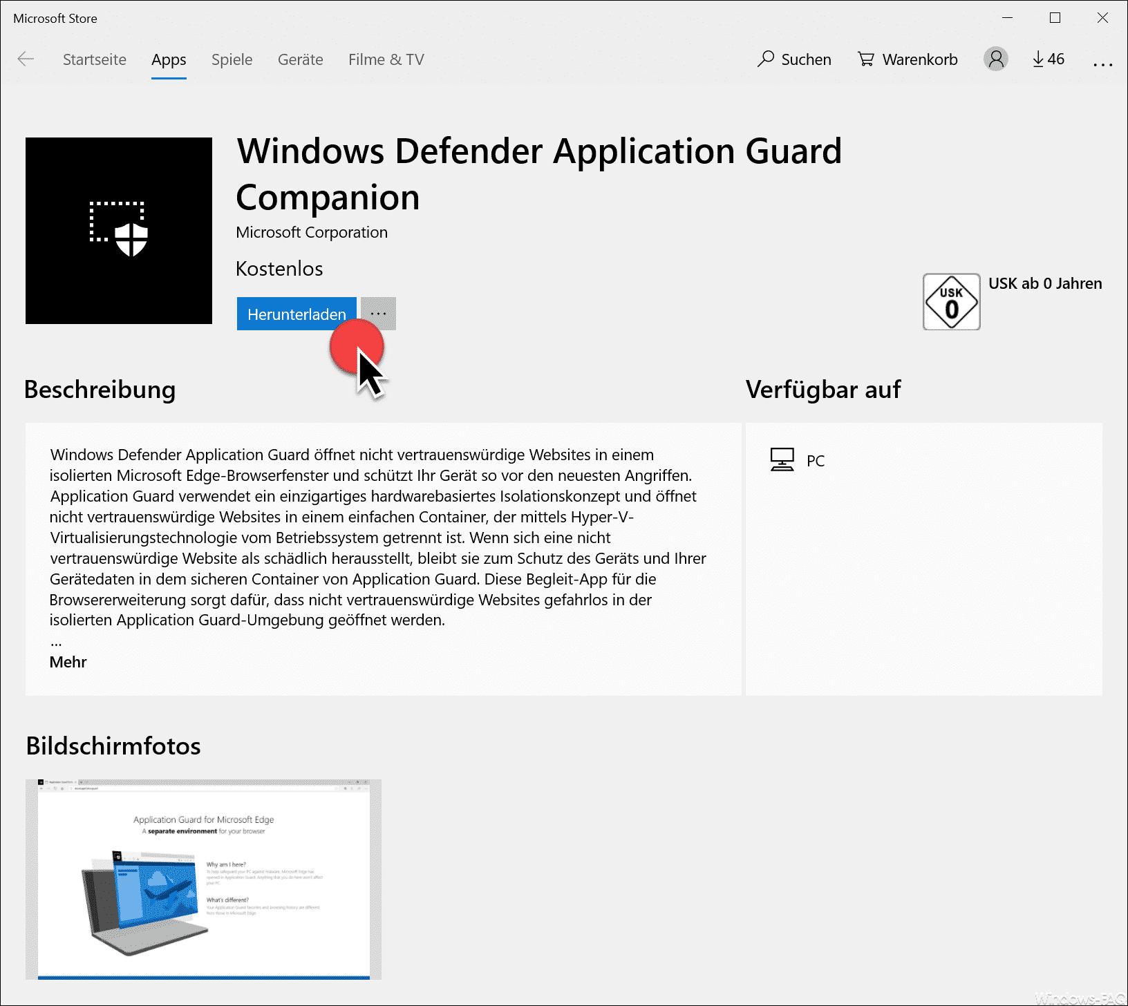 Windows Defender Application Guard Companion Download