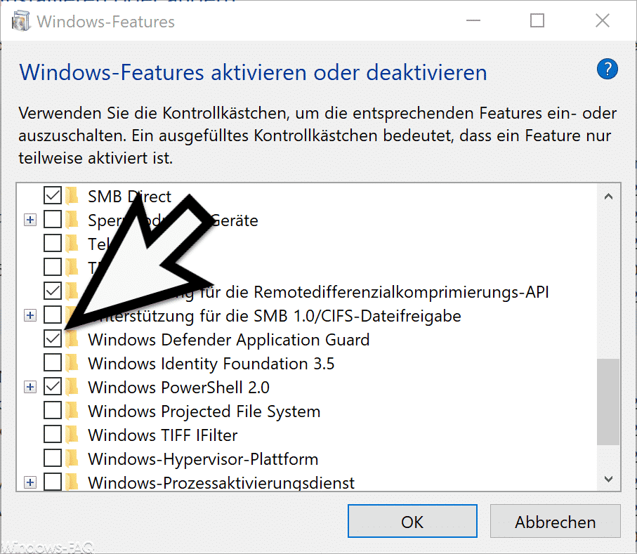 Windows Defender Application Guard aktivieren