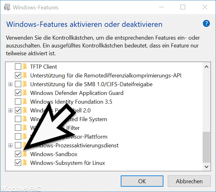 Windows-Sandbox installieren