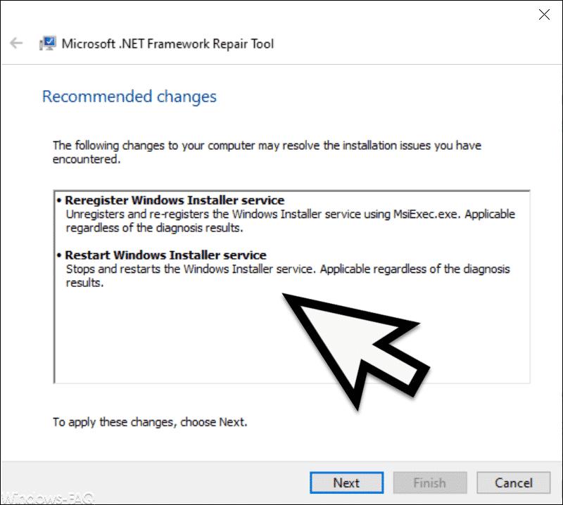 Durchzuführenden Änderungen am .Net Framework
