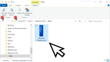 Wie kann ich ein Bild drehen im Windows Explorer?