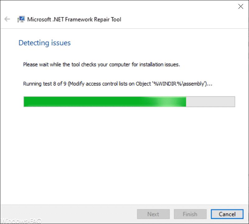 Fehler der .Net Framework Installation feststellen