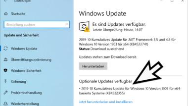 Download KB4522355 für Windows 10 Version 1903 Build 18362.449