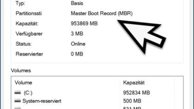 Prüfen ob eine Festplatte einen MBR oder GPT Partitionsstil verwendet