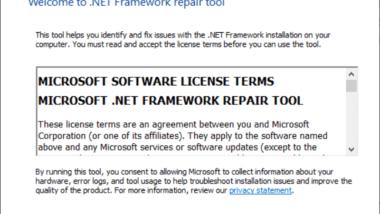 .Net Framework reparieren mit dem .Net Framework Reparaturtool von Microsoft