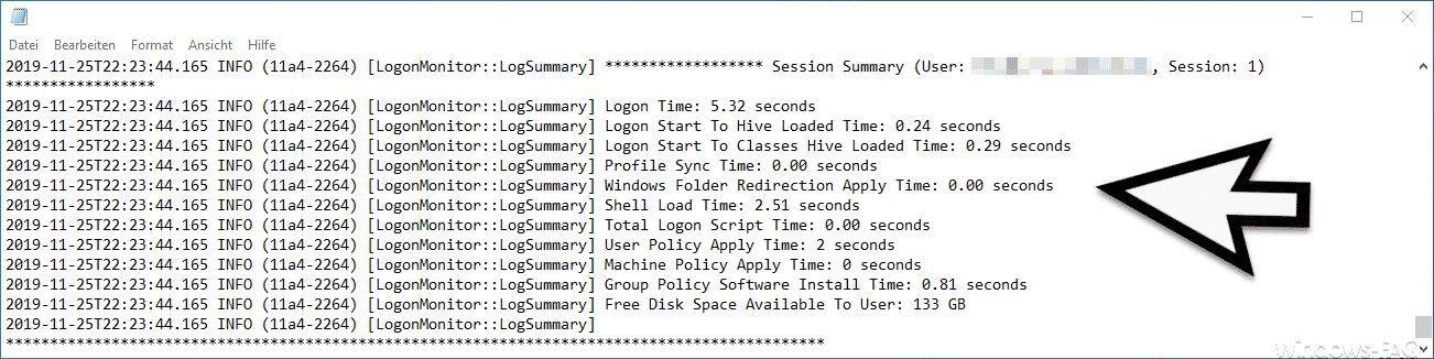 Session Summary Logon Monitor