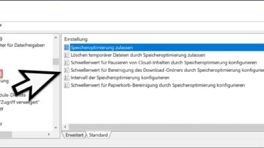 Speicheroptimierung bei Windows 10 per Gruppenrichtlinie steuern