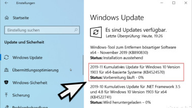 Update KB4524570 für Windows 10 Version 1903 und 1909 Build 18362.476 und 18363.476