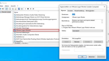 Logon Probleme und Fehler mit dem VMWare Logon Monitor überpüfen