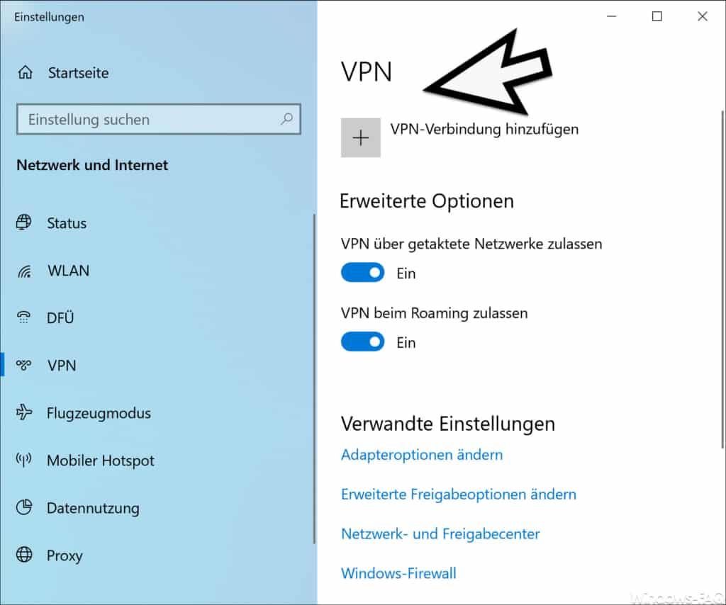 VPN unter Windows 10