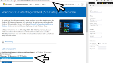 Aktuellste Windows 10 ISO direkt downloaden