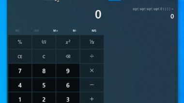 Windows Taschenrechner immer im Vordergrund laufen lassen
