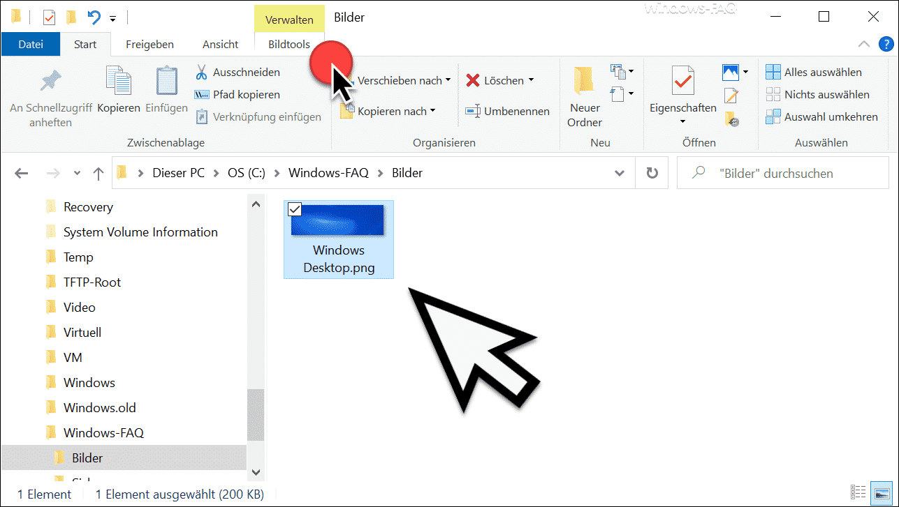 Windows Explorer Bildtools