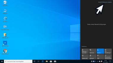 Windows Benachrichtigungen schnell aufrufen durch neue Funktion bei Windows 10 1909