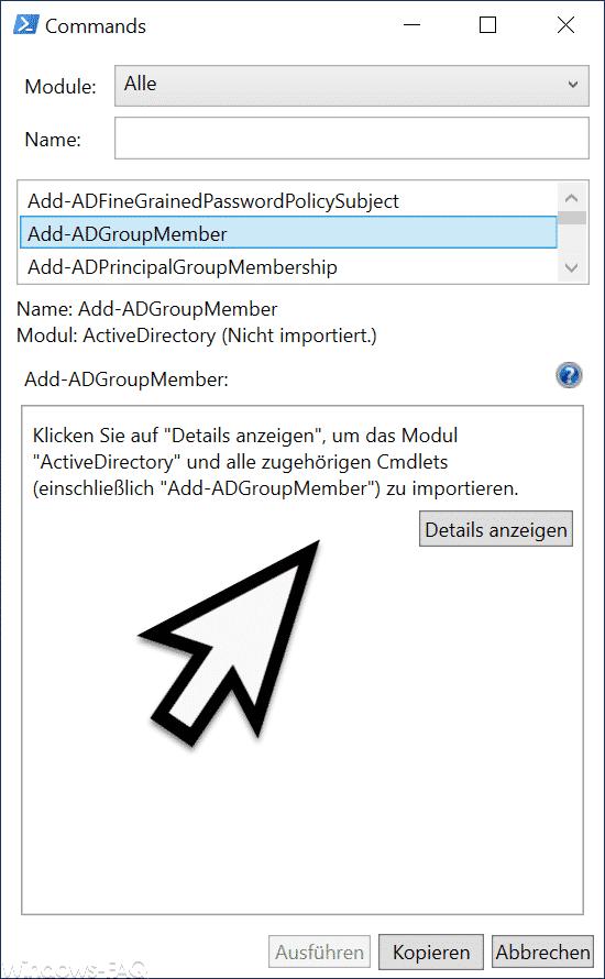 Erklärung PowerShell-Befehl