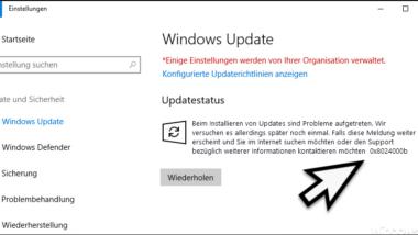 0x8024000b Fehlercode beim Windows Update
