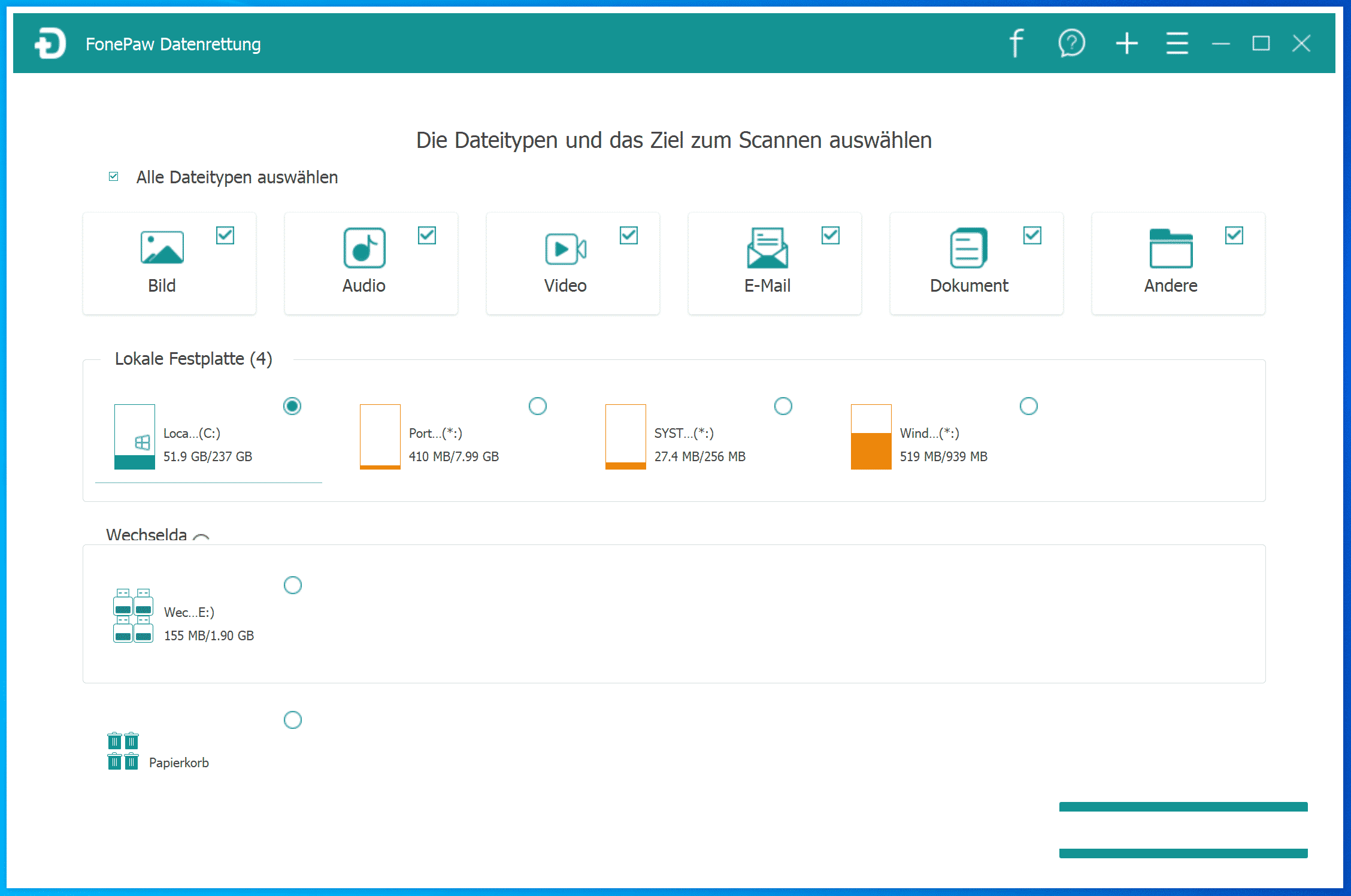 FonePaw Datenrettung