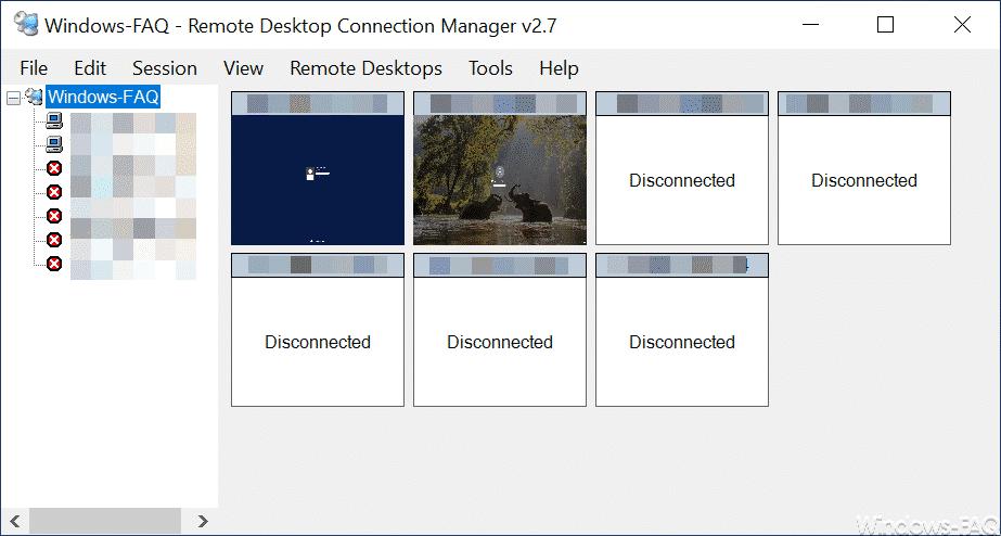 Microsoft Remote Desktop Connection Manager