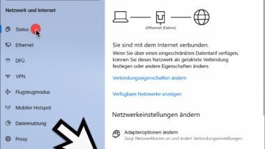 Netzwerkdiagnose bei Windows 10