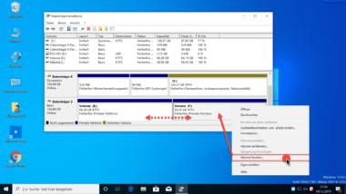 Zwei Windows Partitionen zusammenführen