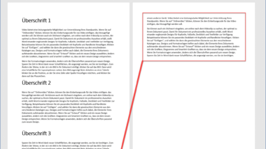 Zu lange Word Texte automatisch kürzen lassen damit sie auf eine Seite weniger passen