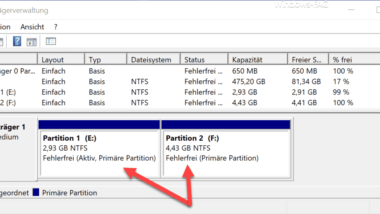 Mehrere Partitionen (Volumes) auf einem USB-Stick anlegen