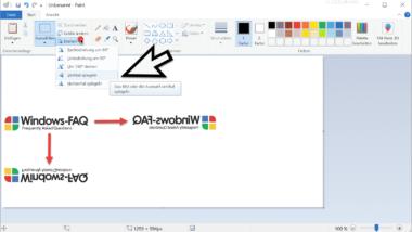 Bilder ganz einfach horizontal oder vertikal spiegeln mit Microsoft Paint
