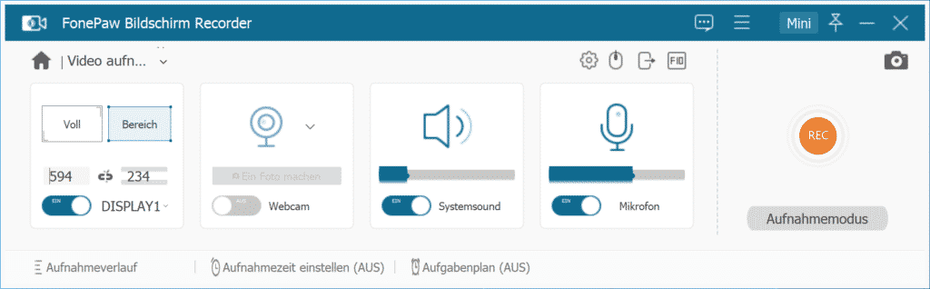 FonePaw Bildschirm Recorder