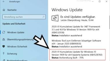 Download KB4528760 für Windows 10 Version 1903 und 1909 (18362.592 und 18363.592)