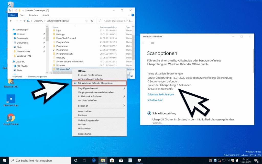 Mit Windows Defender überprüfen...
