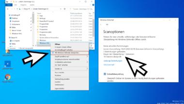 Mit Windows Defender den Inhalt eines Ordners auf Gefahren überprüfen (Windows-Sicherheit)