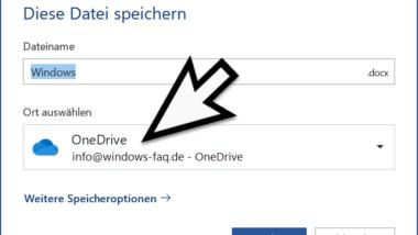 OneDrive Speicherort ausschalten im Microsoft Word
