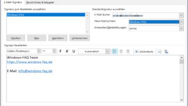 E-Mail Signatur im Outlook anlegen