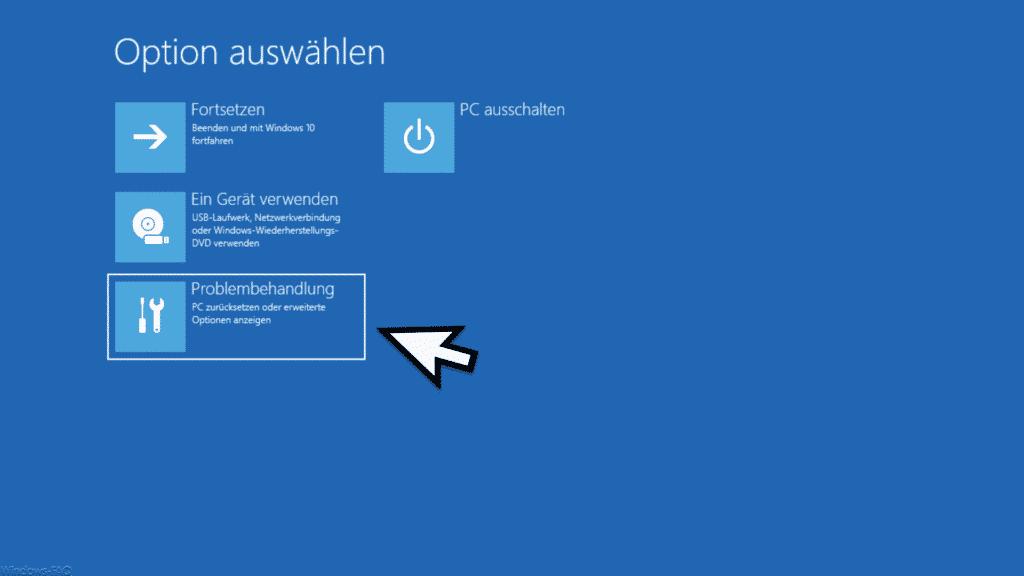 Problembehandlung Windows 10