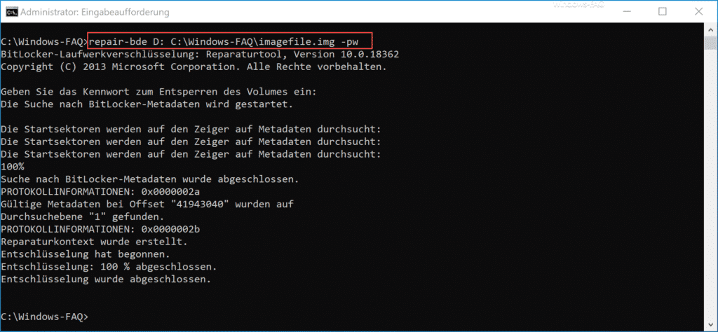 BitLocker Verschlüsselung aktivieren bei Windows 10