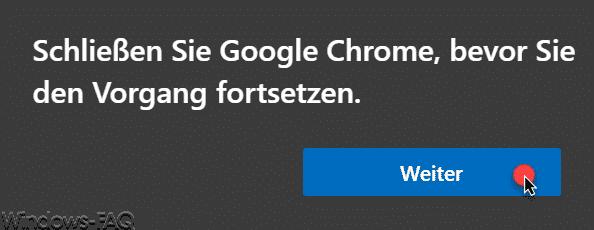 Schließen Sie Google Chrome