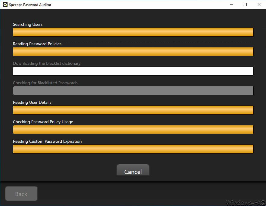 Specops Password Auditor Blacklist scanning
