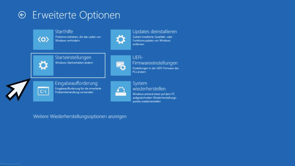 Starteinstellungen Windows Startverhalten ändern