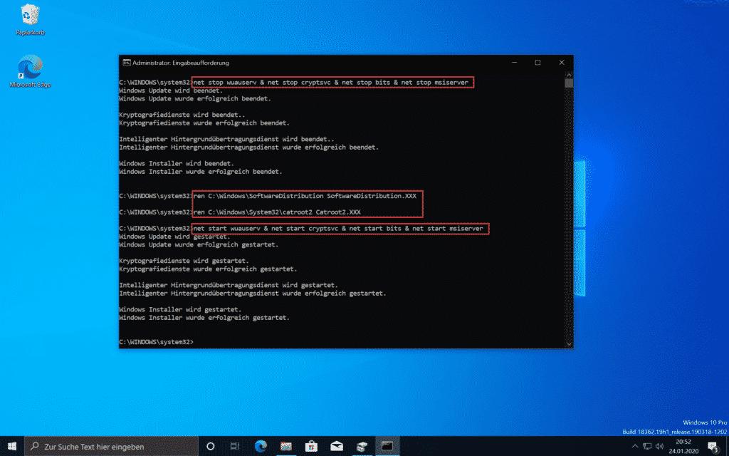 Windows Update Cache leeren