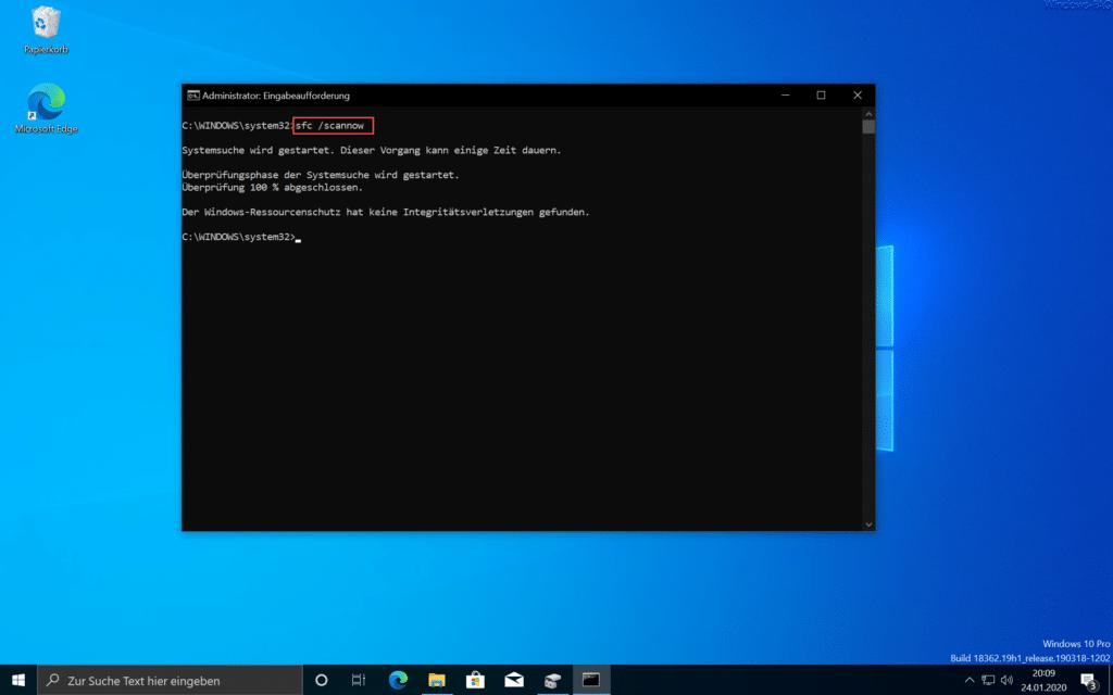 Windows Systemdateien reparieren mit SFC