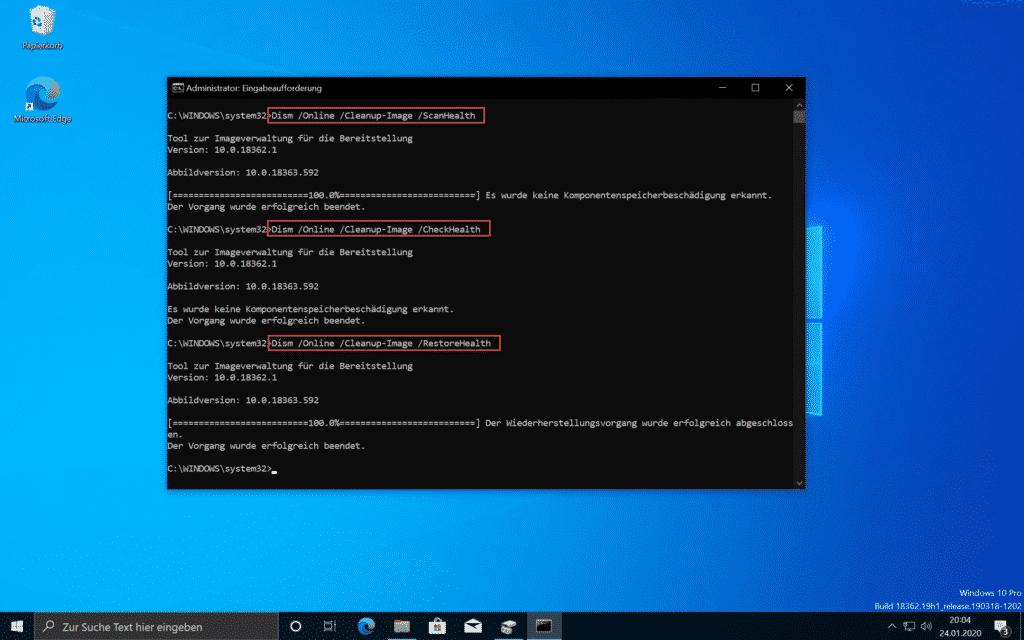 Windows reparieren mit DISM