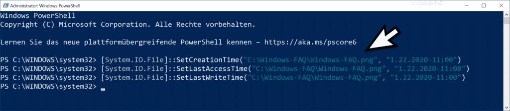 Zeitstempel von Dateien per PowerShell ändern
