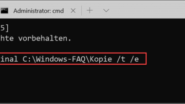 Ordnerstruktur kopieren ohne die Dateien mit zu kopieren