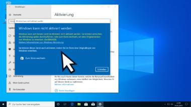 Windows Aktivierungs Fehlercode 0xc004e028