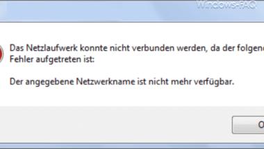 Der angegebene Netzwerkname ist nicht mehr verfügbar – Systemfehler 64 aufgetreten