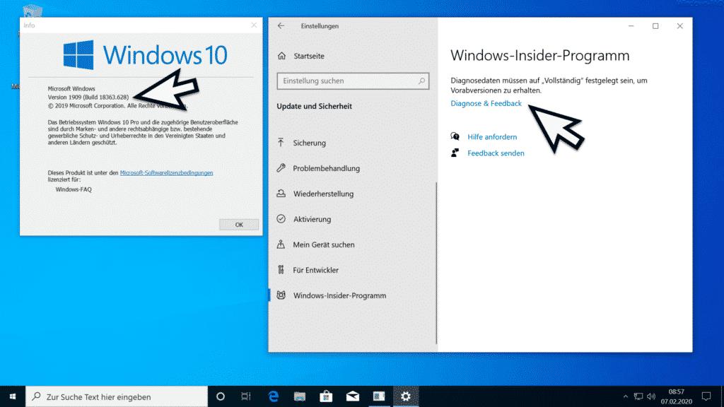 Installation Windows 10 Version 2004 Teil 1