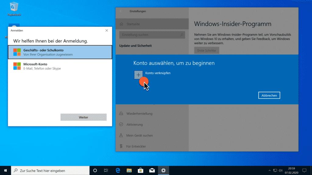 Installation Windows 10 Version 2004 Teil 3