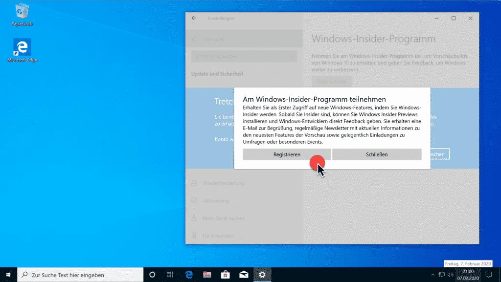 Installation Windows 10 Version 2004 Teil 5