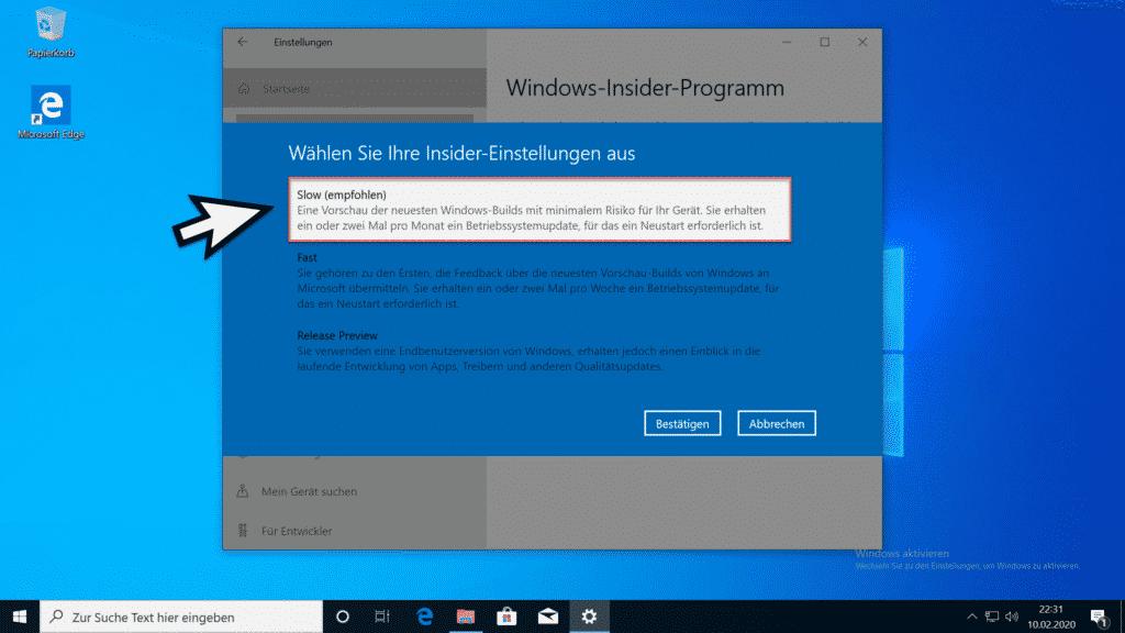 Installation Windows 10 Version 2004 Teil 7