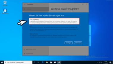 Upgrade Windows 10 Version 1809, 1903 oder 1909 auf Vorabversion 2004 Build 19041 – Teil 1